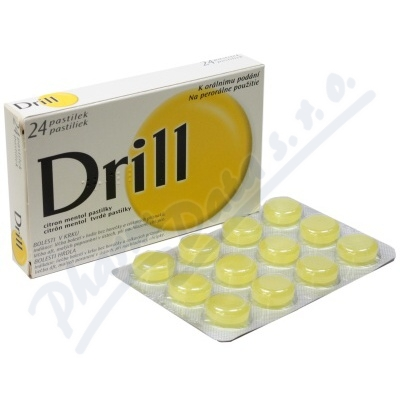 Drill Citron Mentol 3mg/0.2mg pas.24