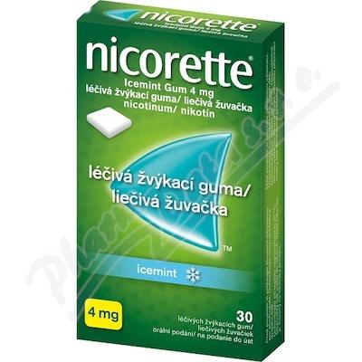 Nicorette Icemint Gum 4 mg léčivá žvýkací guma 30