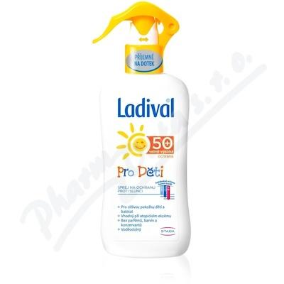 Ladival mléko na opalování pro děti spray SPF50 200 ml