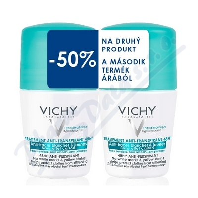 VICHY DEO roll-on DUO Anti traces 2x50 ml
