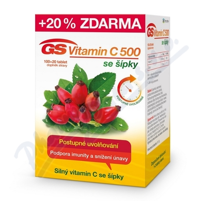 GS Vitamin C500 + šípky 120 tablet