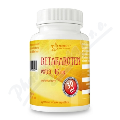Betakaroten EXTRA 15mg tbl.30