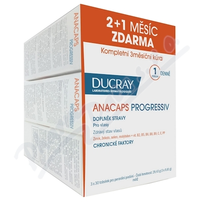 DUCRAY Anacaps Progressiv 3 x 30 tablet