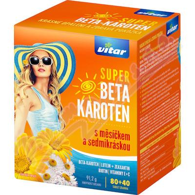 Vitar Super Beta-karot.měsíček+7kráska tbl.80+40