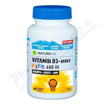 Swiss NatureVia Vitamin D3-Efekt Kids tbl.60