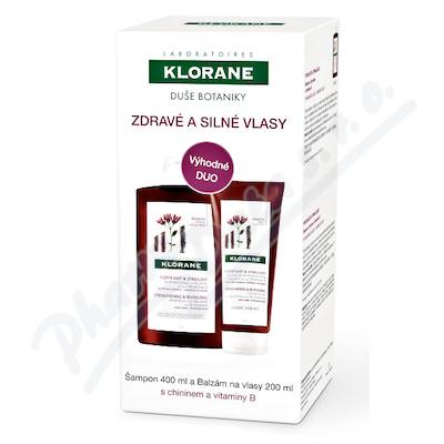 KLORANE Šampon s chininem 400ml+Balzám 200ml