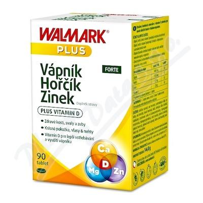 Walmark Vápník Hořčík Zinek FORTE tbl.90
