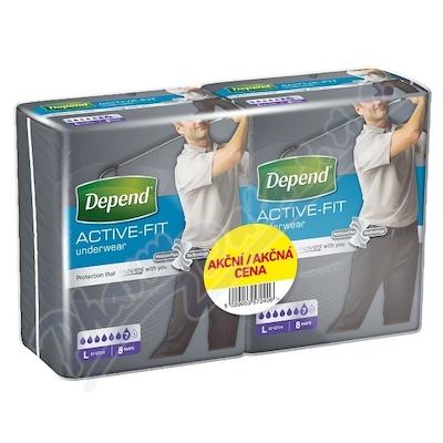 Depend Active-Fit inkon.kalh.M vel.L Duopack 2x8ks