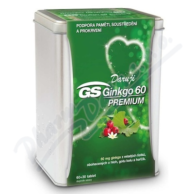 GS Ginkgo 60 Premium tbl.60+30 dárek 2019