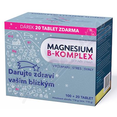 Magnesium B-komplex VÁNOCE Glenmark tbl.100+20