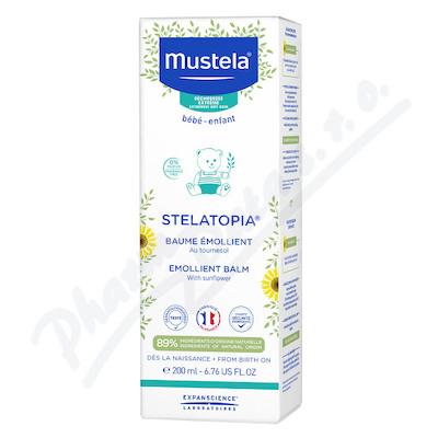 Mustela Bébé Stelatopia Emollient Balm zklidňující tělový balzám pro děti s atopickou pokožkou 200 ml