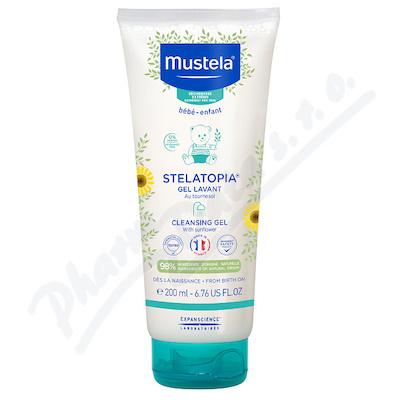 Mustela Bébé Stelatopia Cleansing Gel mycí gel pro miminka s atopickou pokožkou 200 ml pro děti