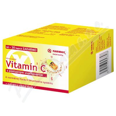 Farmax Vitamin C postup.uvol. tob.60+30 ZDARMA
