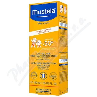Mustela Opalovací mléko na obličej a tělo 100ml