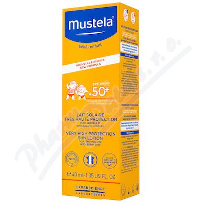 Mustela Opalovací mléko SPF50+ 40ml