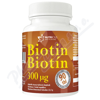 Biotin 300mcg tbl.90