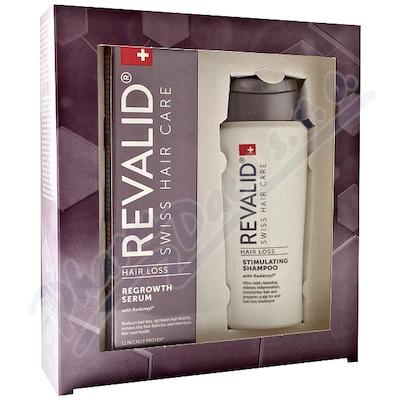 Revalid Hair Loss Promo 2020 Regrowth Serum sérum obnovující růst vlasů 50 ml + Stimulating Shampoo šampon pro posílení vlasů 75 ml dárková sada