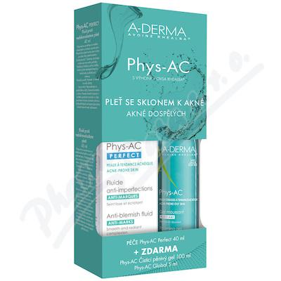 A-DERMA Phys-AC Perf.40ml+Čis.gel 100ml+Global 5ml