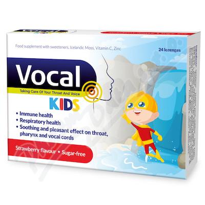 Vocal Kids měkké pastilky s příchutí Jahody 24ks