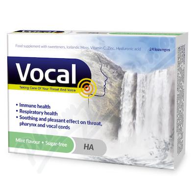 Vocal HA Pastilky bez cukru s příchutí Máty 24ks