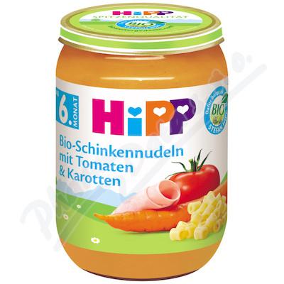 HiPP BABY BIO Zelenina s těstovinami a šunkou 190g