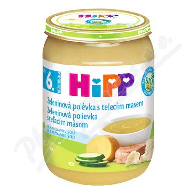 HiPP POLÉVKY BIO Zeleninová s telecím m. 190g