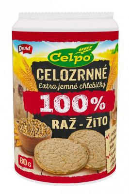 100% Natural extra jemné celozrnné chlebíčky žitné 80g