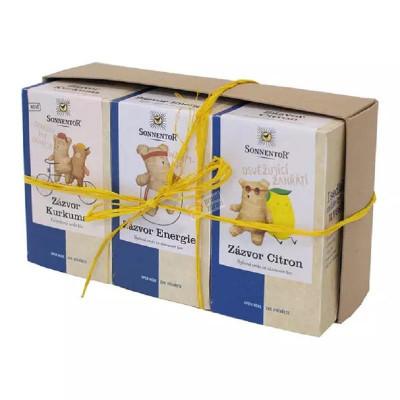 Sonnentor Dárkové balení 3 čajů - Zázvorové trio