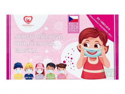 Dětská obličejová maska pro holky 25 ks