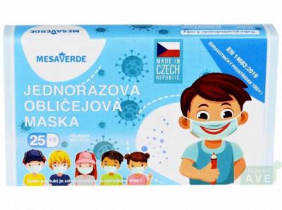 Dětská obličejová maska pro kluky 25 ks