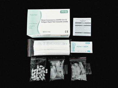 Novel Coronavirus (SARS-Cov-2) Antigen Rapid Test Device (swab), 5 ks v balení