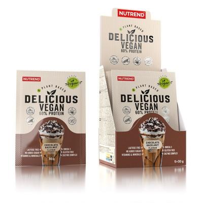 Nutrend Delicious Vegan Protein čokoláda + lískový ořech  5x30G
