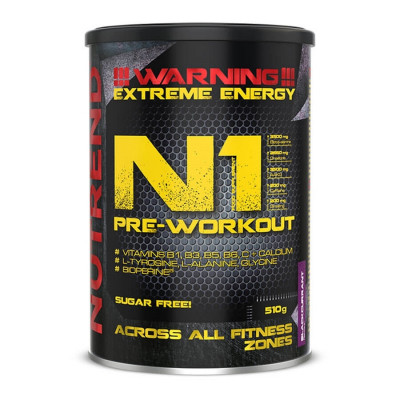 Nutrend N1 Pre-workout 510g černý rybíz