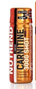 NUTREND CARNITINE 3000 SHOT 60 ml pomeranč