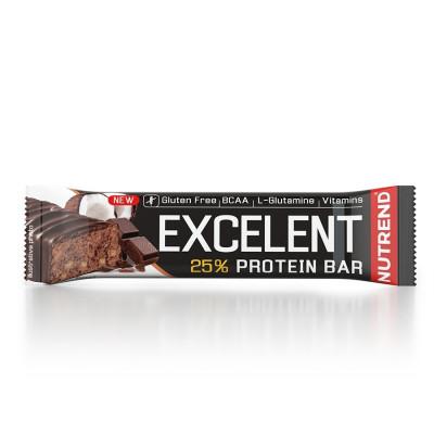 Nutrend Excelent Protein Bar 85g  čokoláda+kokos