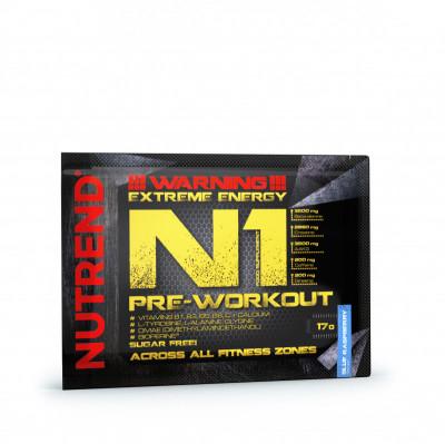 Nutrend N1 Pre-workout modrá malina 17g