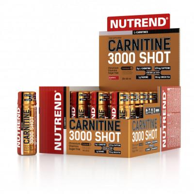NUTREND CARNITINE 3000 SHOT 20x60 ml JAHODA