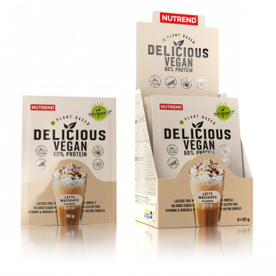 Nutrend Delicious Vegan Protein latte macchiato 5x30G