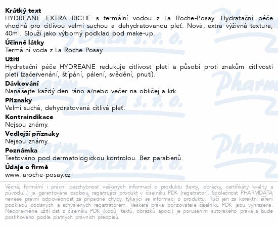 LA ROCHE-POSAY Hydreane extra výživný 40ml