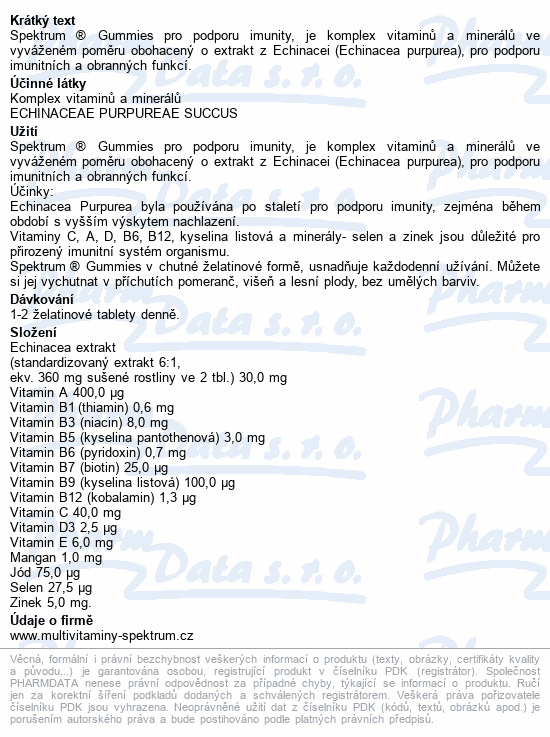 Walmark Spektrum Gummies Imunita s ech.60 tablet