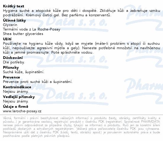 LA ROCHE-POSAY LIPIKAR gel lavant 200ml