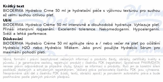 BIODERMA Hydrabio Creme 50ml