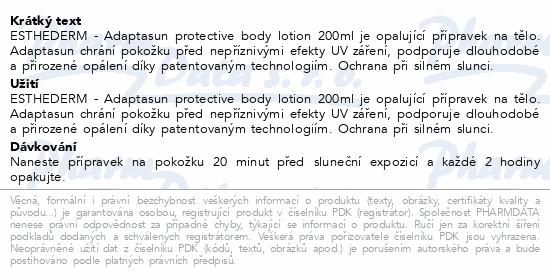 ESTHEDERM Adaptasun protective body lotion 200ml