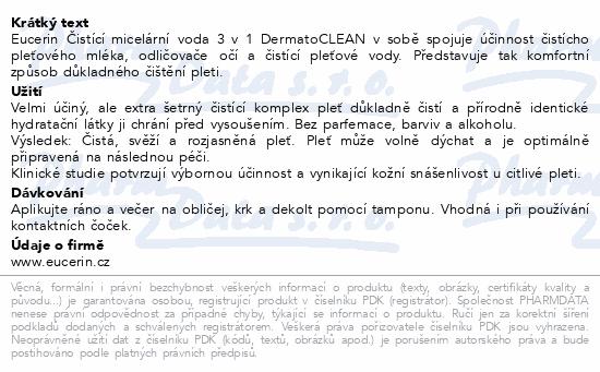 EUCERIN DermatoCLEAN micelární voda 3v1 400ml