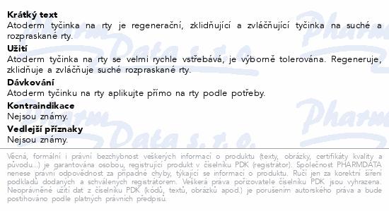 BIODERMA Atoderm Tyčinka na rty 4 g