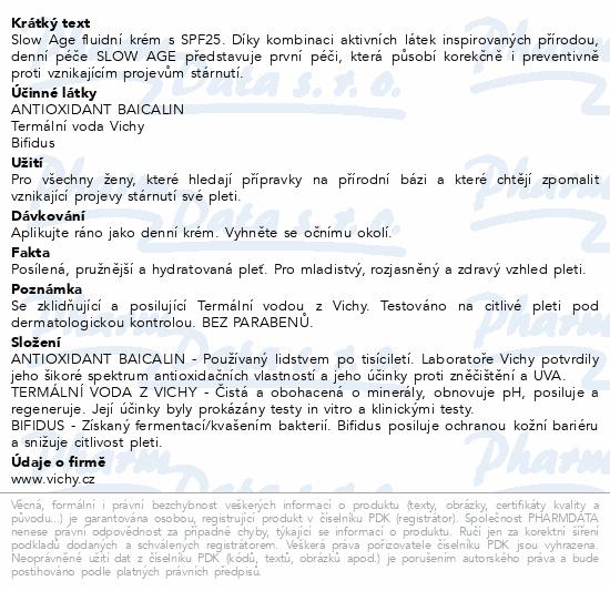 VICHY SLOW AGE Denní péče SPF 30 50ml