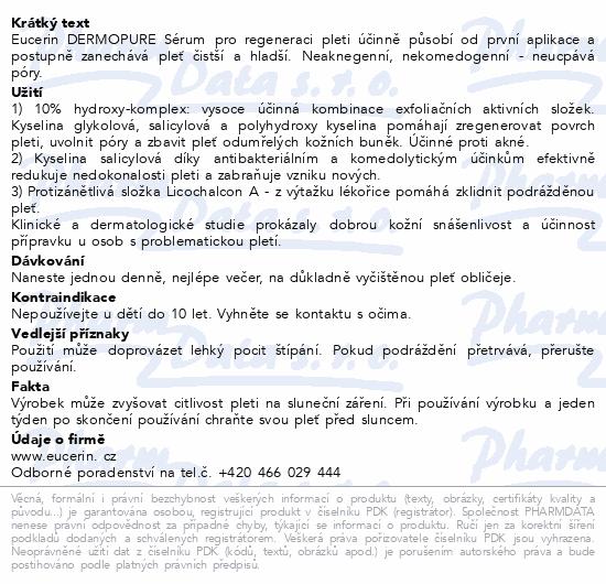 EUCERIN DermoPure Sérum pro regeneraci pleti 40ml