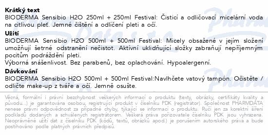 BIODERMA Sensibio H2O 250 ml 1+1 (FESTIVAL)