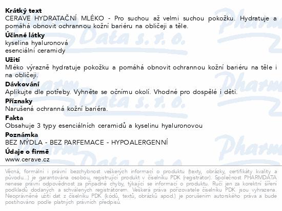 CERAVE Hydratační mléko 88.7 ml