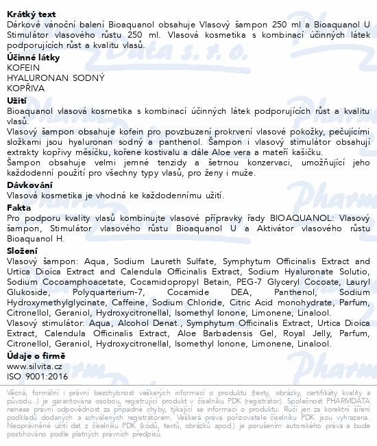 BIOAQUANOL Vánoční balení 2019 (Šamp.+BQ U 250 ml)